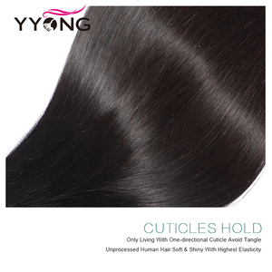 Image 4 - YYong 13x4 Lace Frontal With Bundles Peruvian Straight Bundles With Frontal Remy Human Hair Ear To Ear Lace Frontal With Bundles