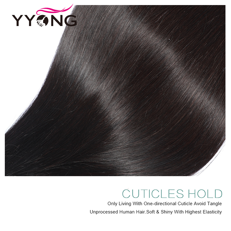 Image 4 - YYong 13x6 Lace Frontal With Bundles Peruvian Straight Bundles With Frontal Remy Human Hair Ear To Ear Lace Frontal With Bundles-in 3/4 Bundles with Closure from Hair Extensions & Wigs