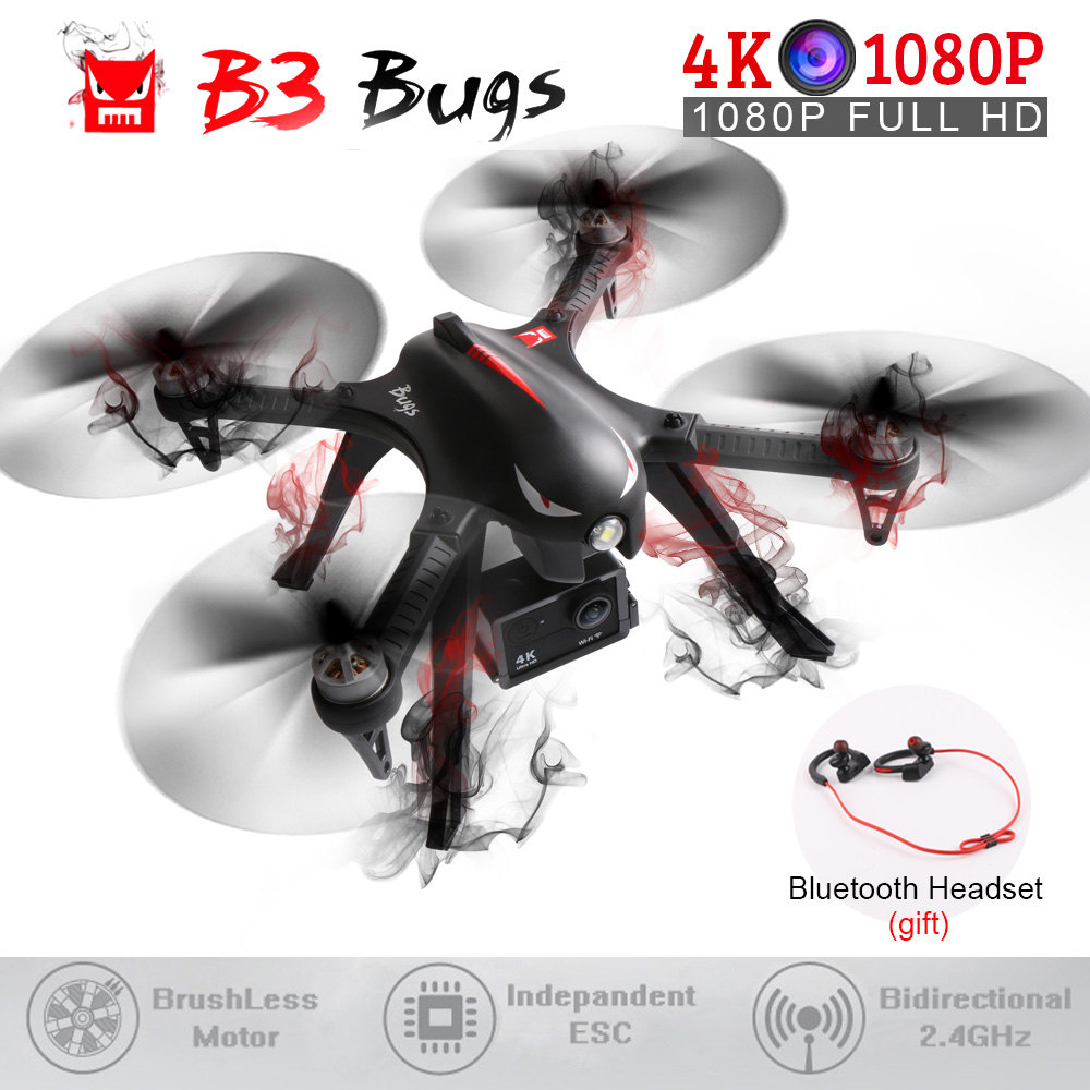 MJX B3 & Bugs 3 Brushless Motor RC Quadcopter One Key Return Altitude Hold Drone with 4K/1080P Camera HD RC Helicopters VS H31 u best design corner sofa inspired by florence knoll left angle imitation leather or real leather modern living room sofa