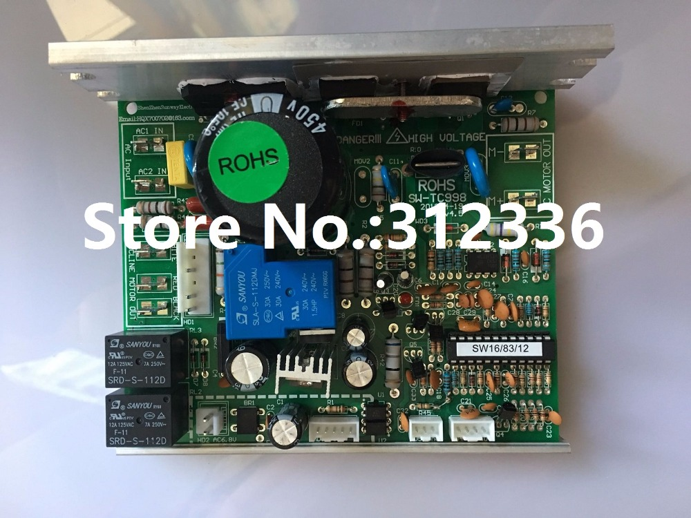 Free Shipping SW-TC998 Motor Controller REEBOK SHUA OMA brother brand treadmill circuit board motherboard driver control board fast shipping lifting motor suit for treadmill model universal motor shua brother oma family