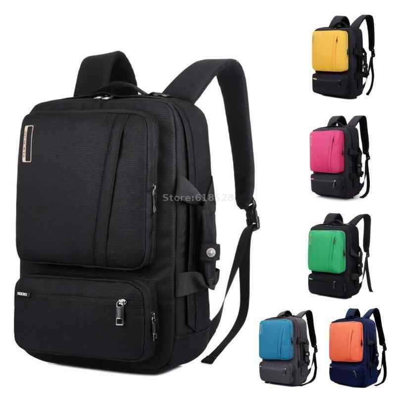 cead796f6609 Multifunctional Laptop Backpack 15 15.4 15.6 17 17.3 inch notebook  Briefcase/shoulder bag/handbag school Bag for men women