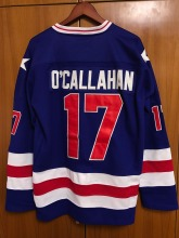 Jack O'Callahan #17 1980 Miracle On Ice USA Hockey Jersey blue All stitched(China)