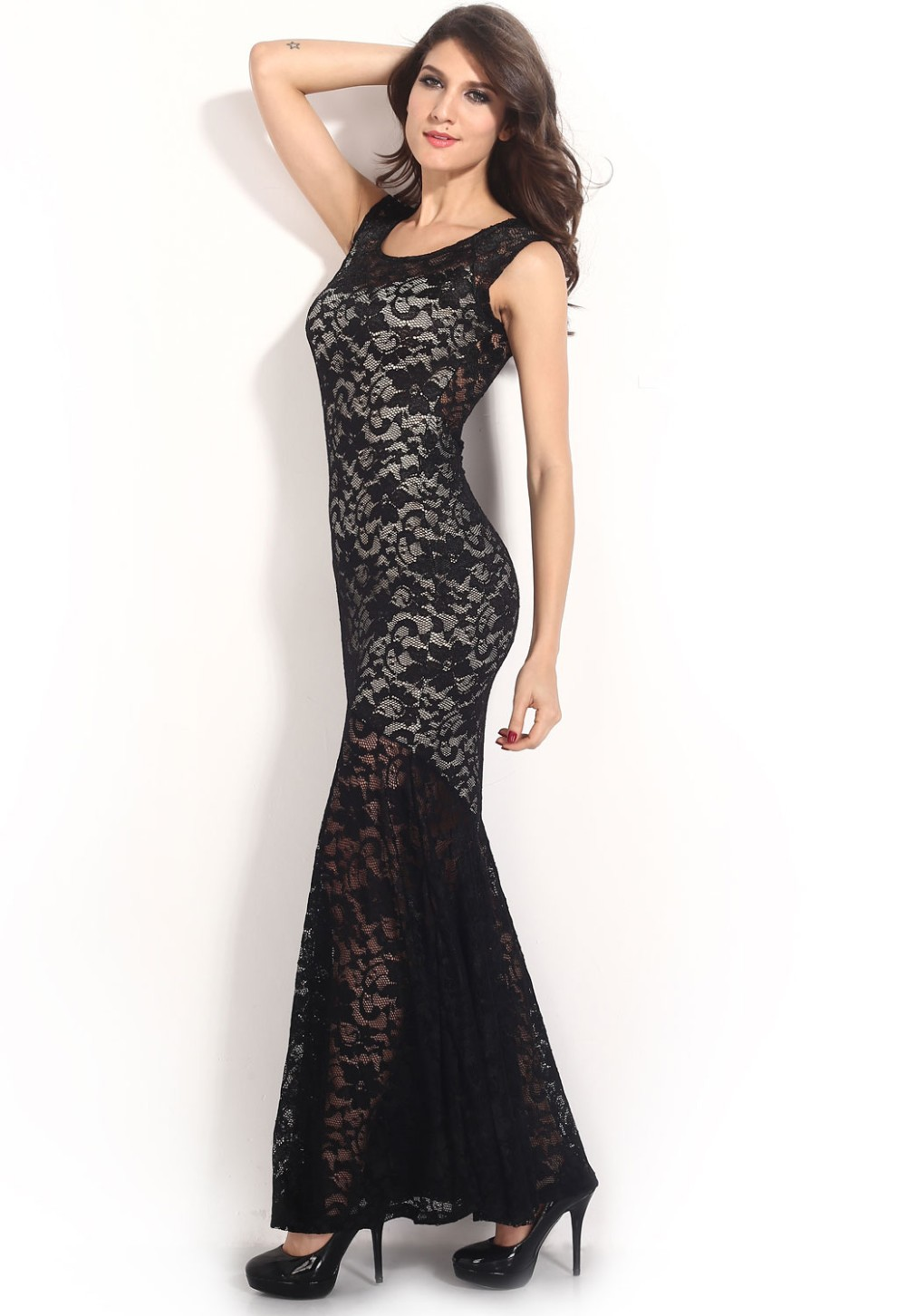 Two-toned-Sexy-Lined-Long-Lace-Evening-Dress-LC6350-15407