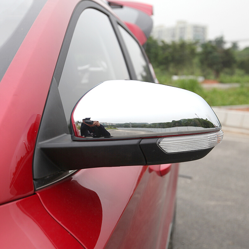 For MG ZS 2017 2018 accessories Car Styling ABS Chrome Car rearview mirror Cover Trim sticker|Chromium Styling| |  - title=