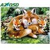 3d Diamond Embroidery Fox Family Needlework Diamond Mosaic Pictures Of Rhinestones Hobbies And Crafts Material For