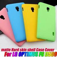 Matte Frosted HARD skin back Case Cover For LG Optimus F6 D500,free shipping
