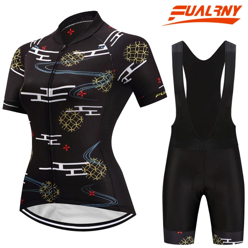 FUALRNY 2018 Caitlin été respirant femmes vélo de montagne vêtements à séchage rapide vélo vêtements Ropa Ciclismo filles cyclisme Jersey