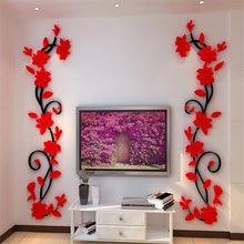 flur blume 3d acryl wand aufkleber decals poster hause dekoration tv bildschirm wand hintergrund dekor tapete