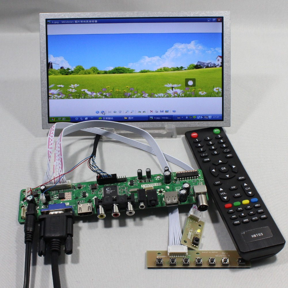 все цены на  TV/PC/HDMI/CVBS/RF/USB LCD control board 8.9inch HSD089IFW1 1024  600 lcd panel  онлайн