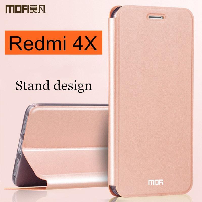 Xiaomi Redmi 4X case cover Redmi4x case flip cover back leather silicone hard coque MOFi global version xiaomi Redmi 4x case