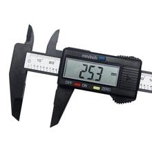 "Electronic Vernier Caliper 150mm 6"" LCD Digital Carbon Fiber Vernier Caliper Gauge Micrometer"