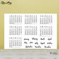 ZhuoAng стиль недели и месяца, календарь, прозрачные штампы/печати для DIY скрапбукинга/изготовления карт/альбома, декоративный силиконовый шта...