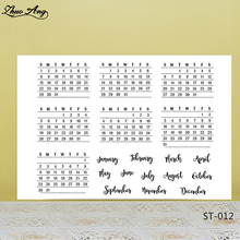 ZhuoAng Week and Month style calendar Clear Stamps/seals For DIY Scrapbooking/Card Making/Album Decorative Silicon Stamp Crafts