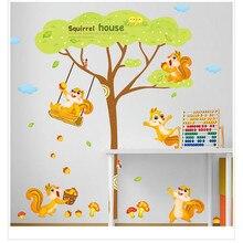 E5 2017 diy adesivo de parede muraux adesivo de parede dos desenhos animados para crianças do jardim de infância quarto decorar sala de estar