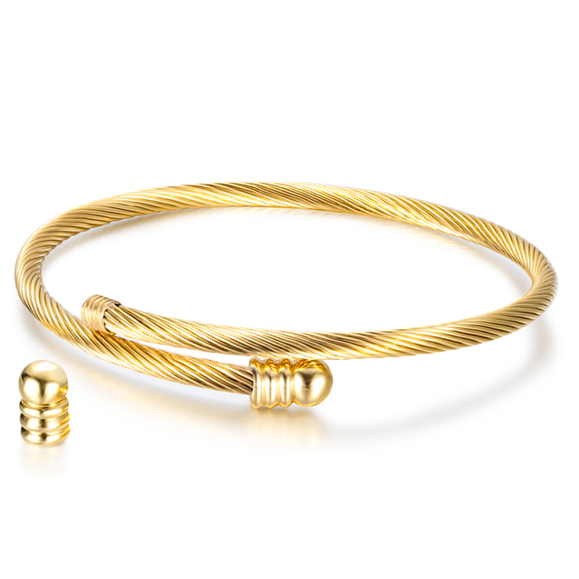 Elastic Cable Wire Bangle...