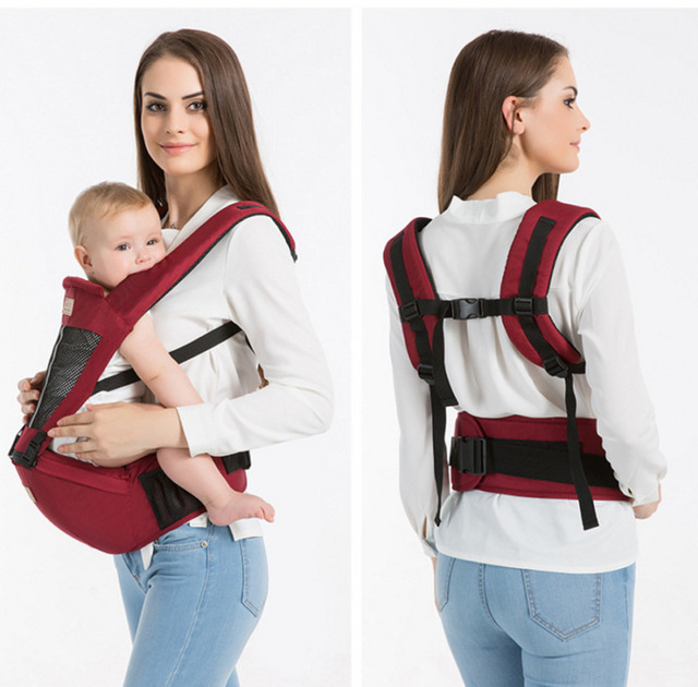 Hot Newborn Infant Baby Carrier Solid Traspirante Ergonomico Regolabile Wrap Sling petto canguro Zaino 0-4 Anni 5