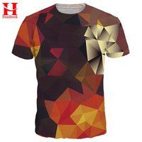 2017 Headbook 3d T Shirt Men Women Summer Tees Print Color Blocks 3d T Shirt Fashion