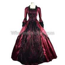 Купить с кэшбэком Top Sale Gothic Marie Antoinette  Penny Dreadful Renaissance Vampire Dress Gown Theatre Dress