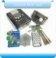Integrado MC-203E 125 KHZ RFID controle de acesso controlado eletronicamente bloqueio/trava elétrica/+ 10 estilo Jade keyfobs