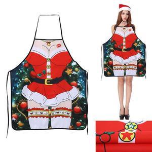 Image 4 - عيد الميلاد مآزر المطبخ للمرأة ديكور عيد الميلاد مآزر للكبار النساء الرجال عشاء حفلة مريلة مطبخ اكسسوارات الخبز