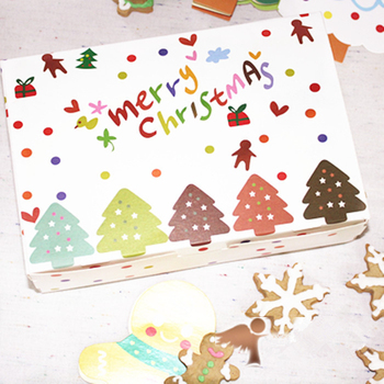 Free shipping Christmas bakery box gingerbread package boxes dessert candy cookie packing paper box favors party gift decoration