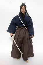 1/6 Japanese Ninja Miyamoto Musashi Head Sculpt with Clothes and Sword