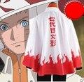 Free shipping Anime Manto Naruto 7th Hokage Cosplay Costumes Outfit Uzumaki Naruto Cloak New