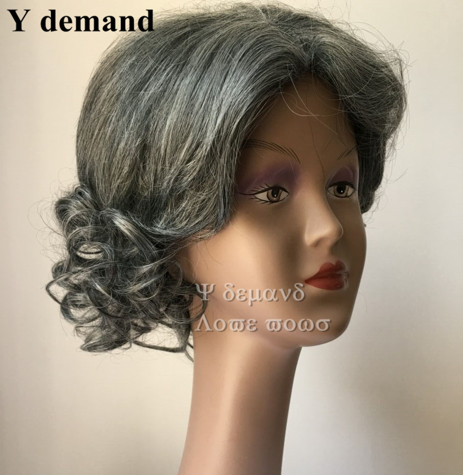 Short silver gray wavy Wigs Heat Resistant synthetic hairstyles African  american grey wig for black old Women Elderly Ladies on Aliexpress.com | ...