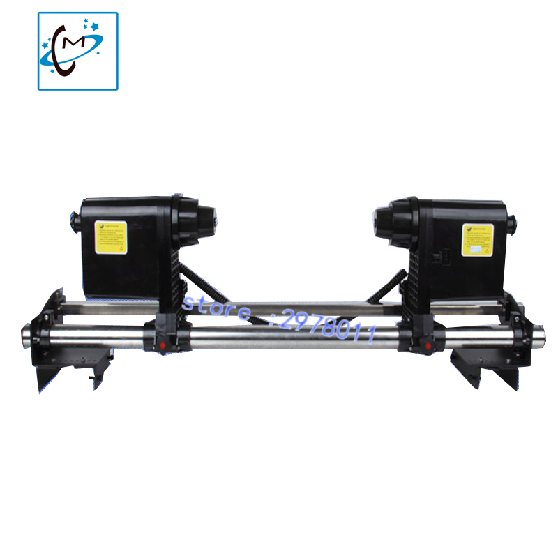 Strong power paper take up system with double motors for wit color skycolor lecai  mutoh mimaki piezo printer Paper Take up Reel hot sale inkjet printer machine 50meter 4 line 5mm 3mm solvent ink tube for infiniti pheaton sid roland mimaki mutoh