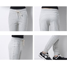 Casual Fit Women Pants Healthy 100% Cotton High Quality Pants Spring Autumn Casual Trousers Sportswear Leggings Female Clothing