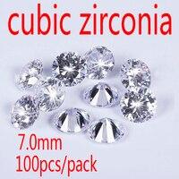 Wholesale Jewelry Supplies Swiss AAA Grade CZ Cubic Zirconia Round Zircon 7 0MM DIY Jewelry Findings
