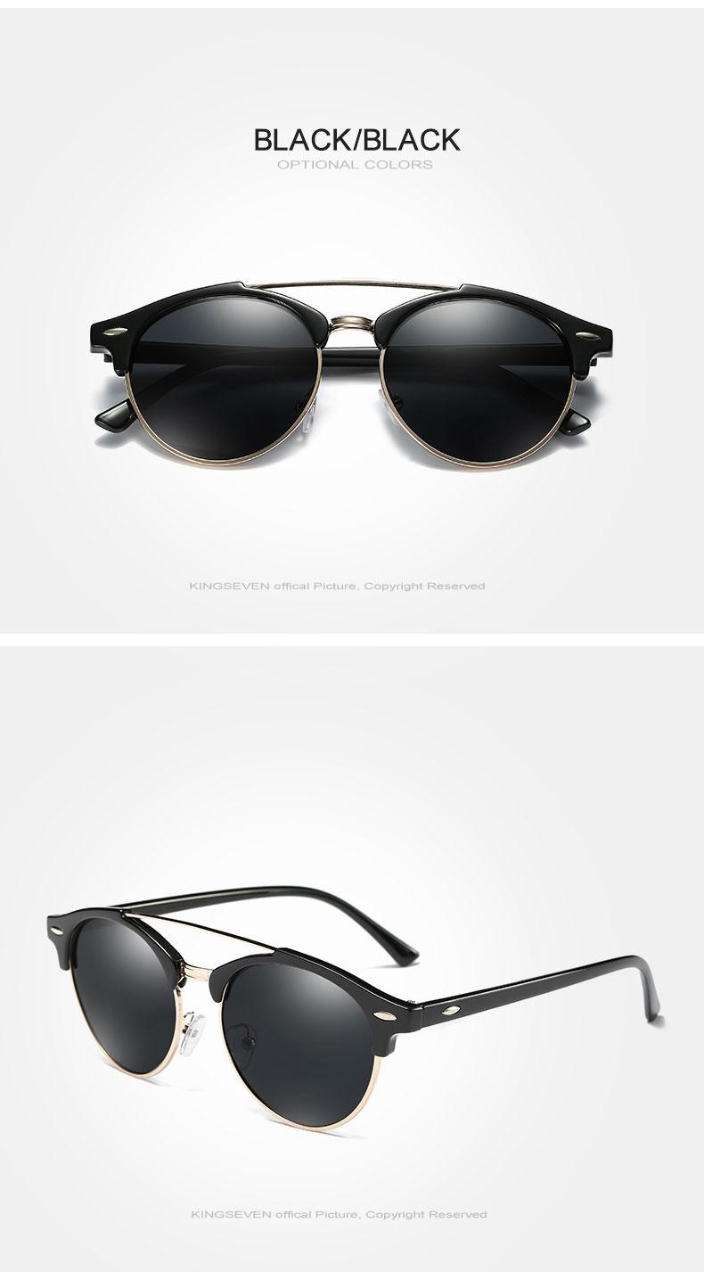 17 KINGSEVEN Retro Rivet Polarized Sunglasses Women Classic Brand Designer Sun glasses Eyewear Bridge Frame Oculos Gafas N7346 5