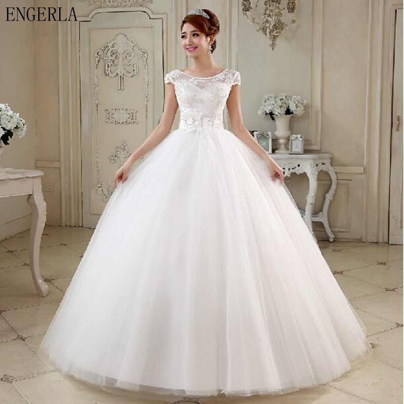 White Wedding Gowns: Aliexpress.com : Buy ENGERLA Bridal Gowns 2017 New White