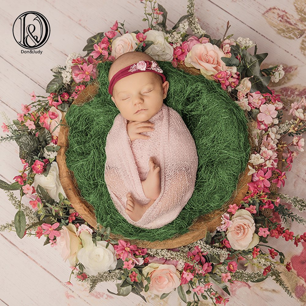 D&J 100g/pc New Raffia Basket Filler Cushion Blanket Newborn Photography Background Prop Studio Photos Aided Modeling Fillers