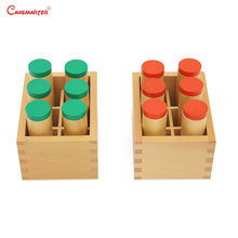 Beech Wood Montessori Sensory Wooden Toys Sound Boxs Teaching Aids Children Preschool Educational Toys Sensorial Maths SE021-3