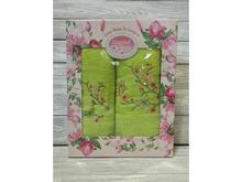 Набор полотенец Vilena, Райская Бабочка, 2 предмета, салатовый