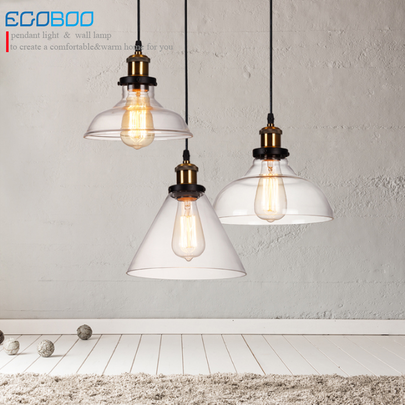 Retro Vintage Glass Lampshade Pendant Lights E27 Glass Pendant Lamp for Restaurant bar Clothes shop Lighting fixture 100-240V vintage retro new pendant light lamp bar shop lighting led lighting ceiling lamp fixture e27 90 260v three colors free shipping