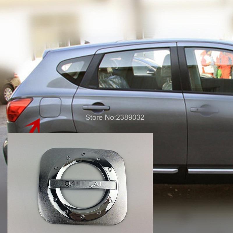 Prix pour Fit Pour Nissan Qashqai 2007 2008 2009 2011 2012 2013 Première génération ABS Chromé Couvercle Du Réservoir De Gaz de Carburant Cap Trim