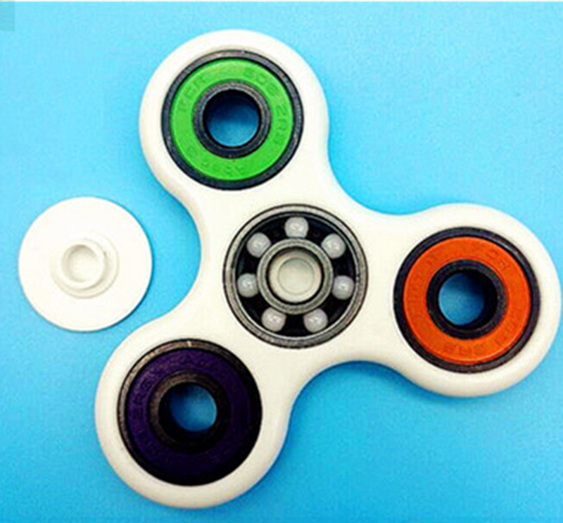 10 colors Tri Spinner Fidget font b Toy b font Plastic EDC Hand Spinner For Autism