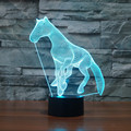 2016 new horse colorful 3D lamp LED lamp light touch acrylic stereoscopic gift