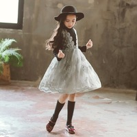 Vestidos Girls Winter Dress 2019 Brand Teenage Party Princess Dress Children Costume for Kids Clothes Elegant 8 9 10 11 12 Years