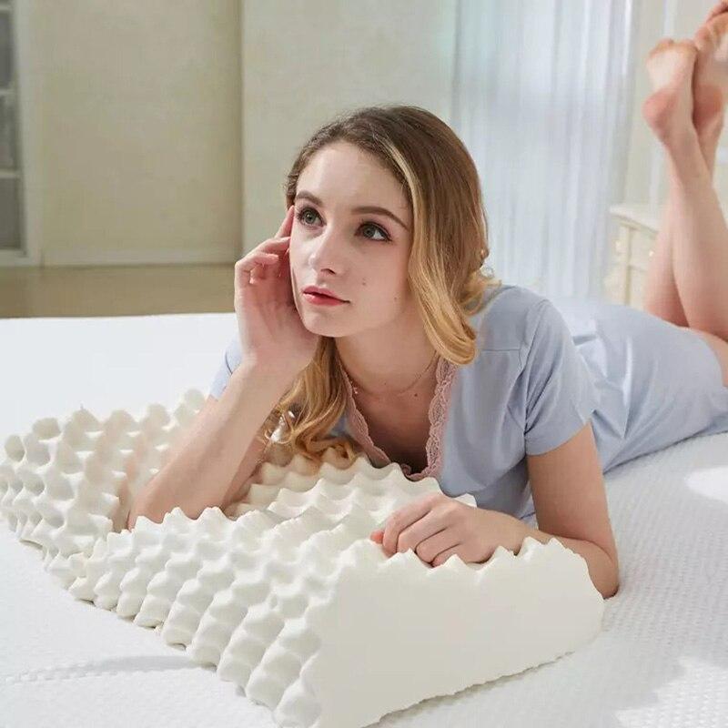 Oreiller en Latex oreillers de Massage pour dormir Oreiller orthopédique Kussens Oreiller Almohada cervicale Poduszkap Oreiller à mémoire de forme