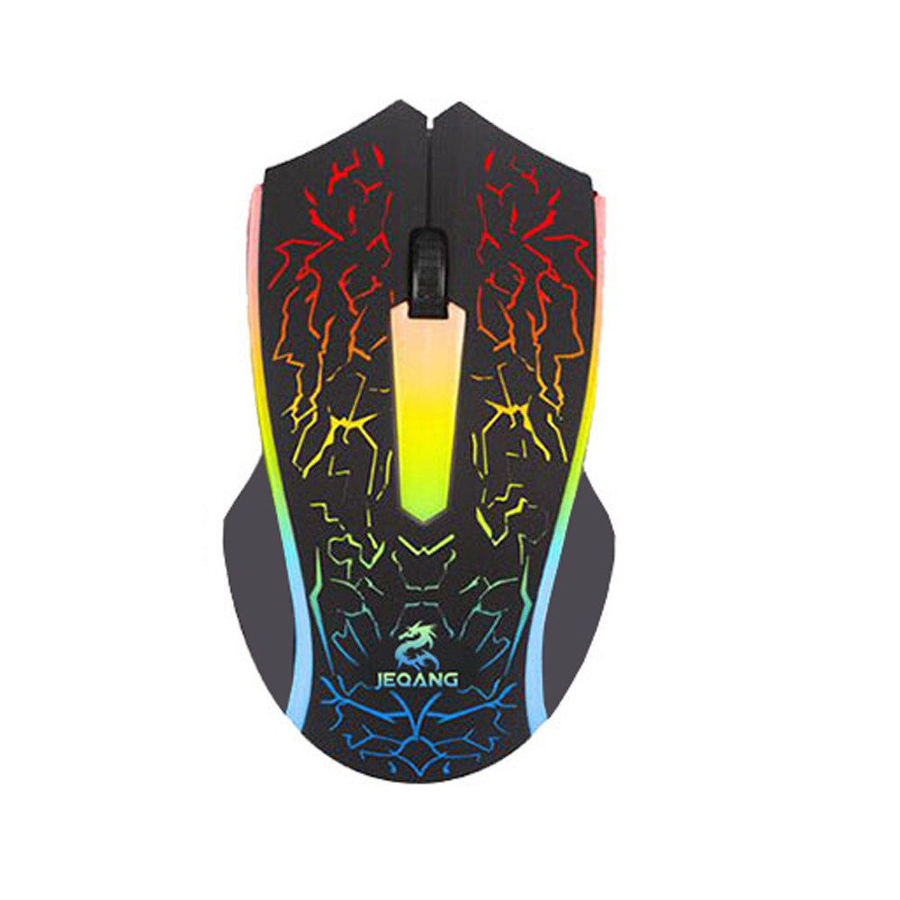 Optical LED Gaming Mouse Adjustable 2000DPI 2 Button Metal Feel Professional Game Office Mouse For PC Laptop #10