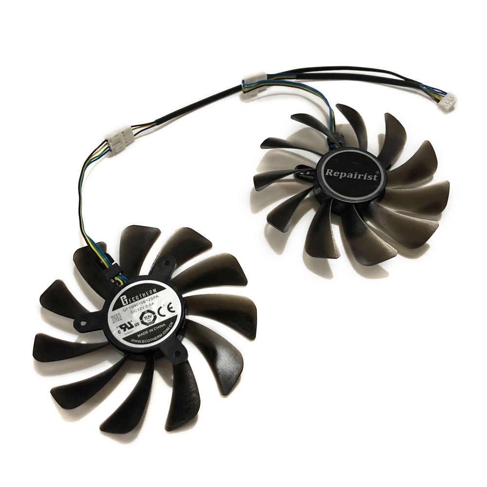 2 قطعة/المجموعة ZOTAC غيفورسي GTX 1070 Ti أمبير طبعة GPU VGA برودة مروحة ل غيفورسي GTX 1070Ti أمبير النواة الفيديو بطاقات كبديل