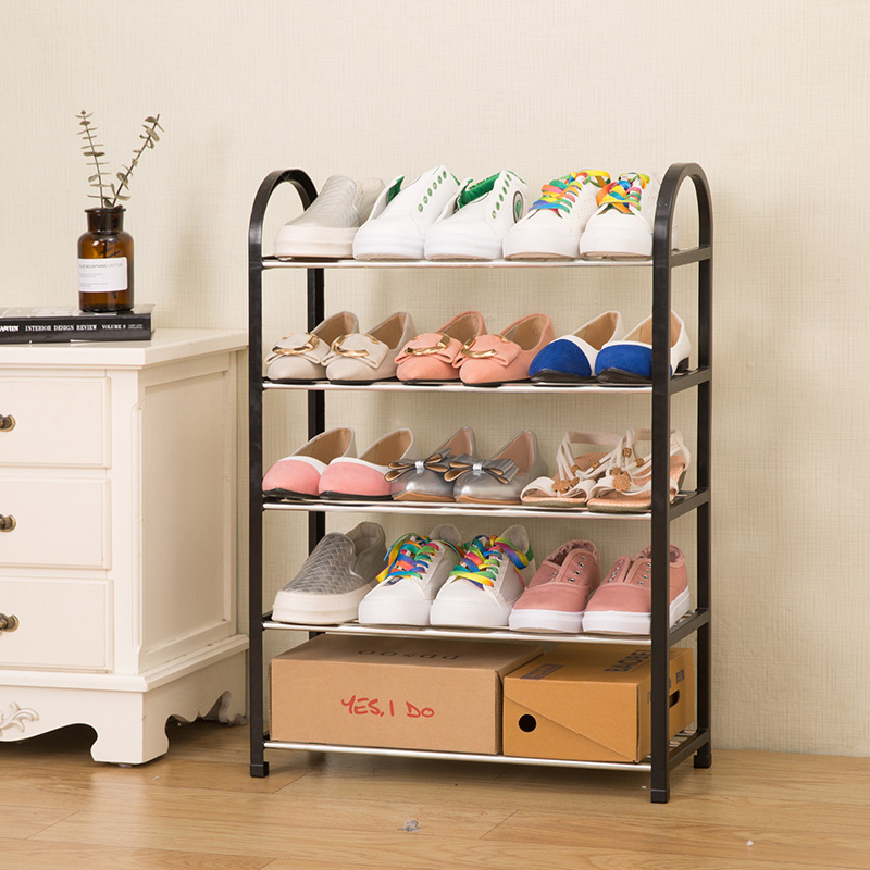 Multiple layers Shoe Rack Plastic parts Steel Pipe Shoes Shelf Easy Assembled Storage Organizer Stand Living