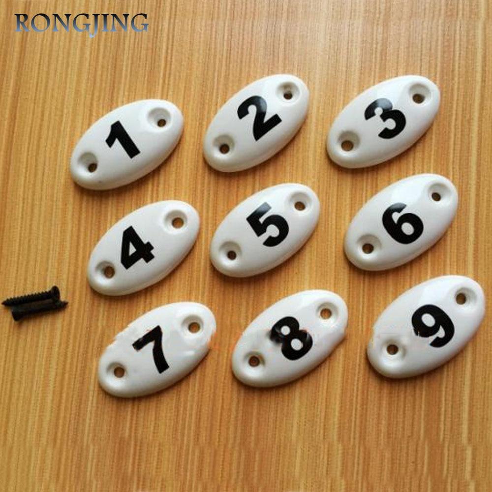 Number Ceramic Cabinet Drawer Knobs Porcelain Kids Wardrobe Handles Furniture Dresser Closet Cupboard Kitchen Cabinet Pulls