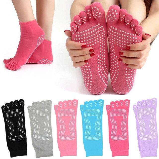 New Winter Women Toe Socks Cotton Non Slip Dance Pilates Sock calcetines Warm Cute Socks With Five Fingers Sokken F2