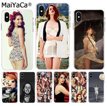 MaiYaCa Beautiful Lana Del Rey Sexy Soft TPU silicone On Sale Luxury Cool Phone Case for iPhone 8 7 6 6S Plus X XS max 55S SE XR(China)
