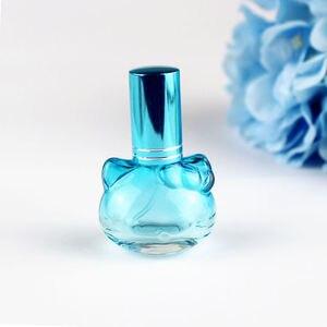 Image 4 - 1 pc 10 ミリリットルカラフルなガラスの香水瓶スプレー詰め替えアトマイザー香りボトル包装ボトル 5 色