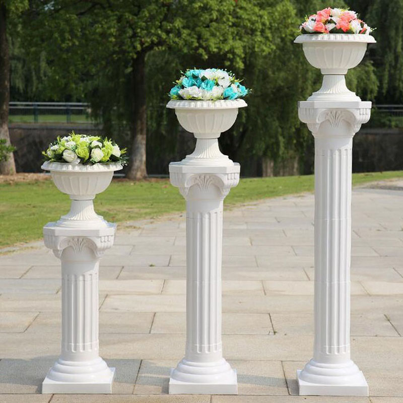Wedding Flower Pillars: 4sets/lot Luxury Wedding Arrangement Plastic Thick Roman